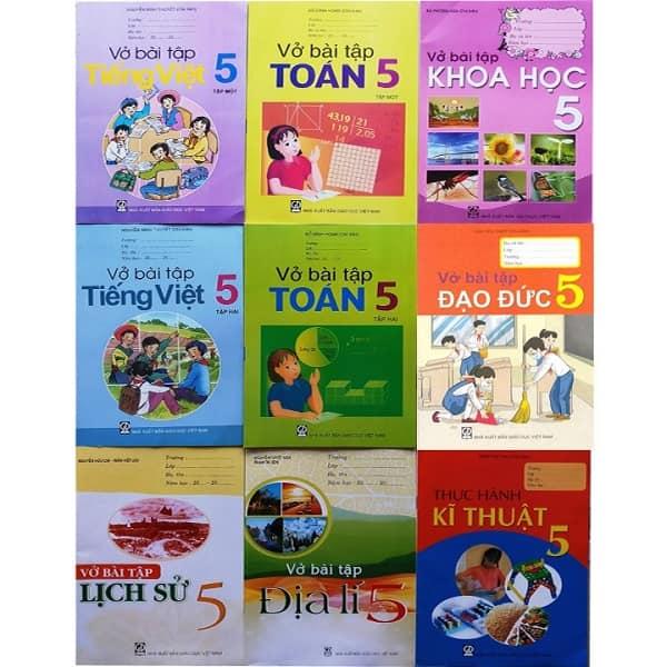 Bộ Sách Giáo Khoa Lớp 5 Bài Tập. Văn Phòng Phẩm-Nhà Sách Trung Nguyên